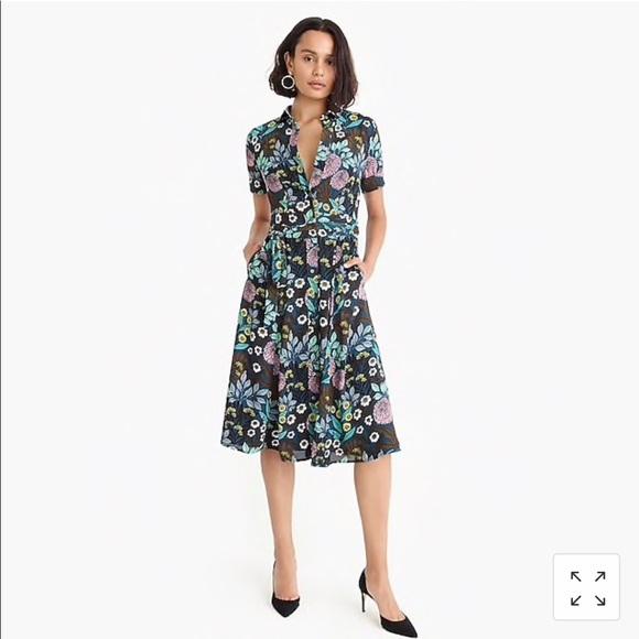 b816f00ca9d J.Crew x Abigail Borg Dress Floral Dress NWT